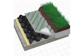 Drenažinė membrana apželdintam stogui DELTA FLORAXX TOP